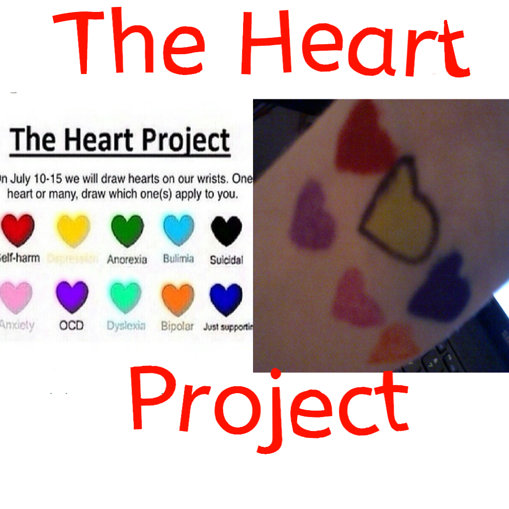 Self drawing colorful. The heart project by