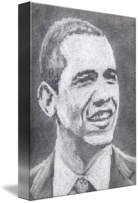 Self drawing pencil. Obama by sine thieme