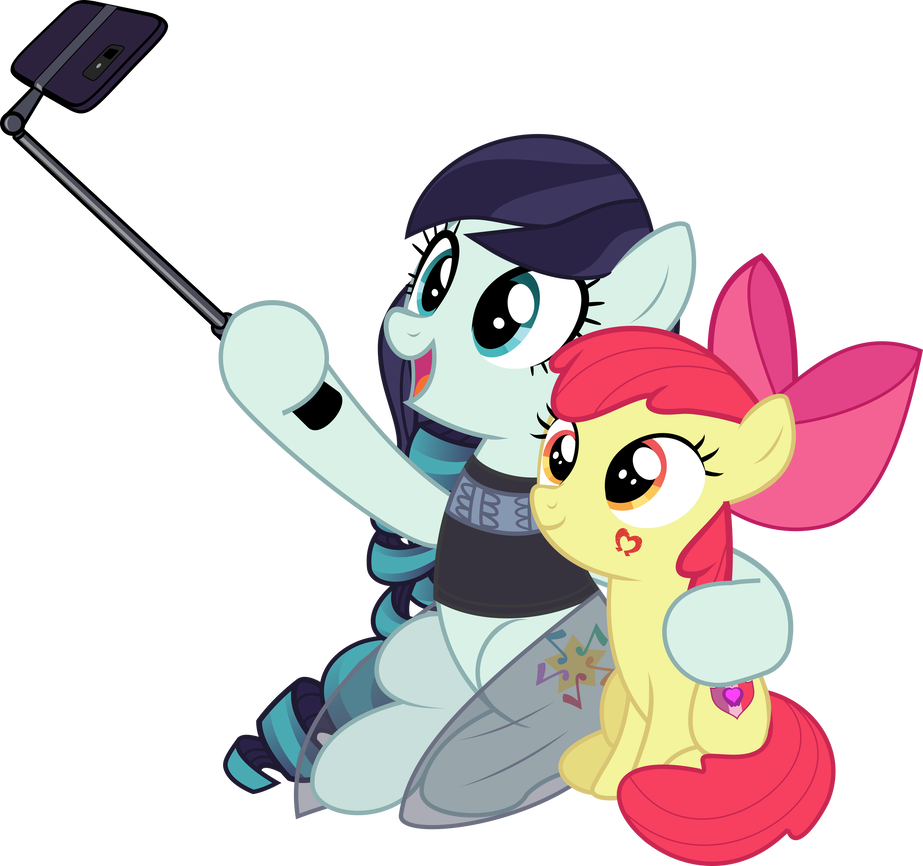Selfie clipart group vector. With applebloom by jhayarr