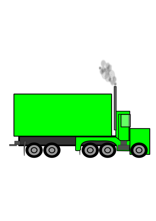Peterbilt vector illustration. Car semi trailer truck