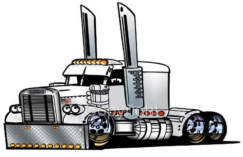 Semi clipart animated. Big rig truck freight
