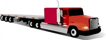 Semi clipart container truck. Free trailer and vector