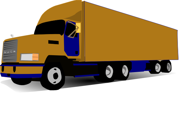 Truck clipart container truck. Free animated pictures download