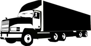 Semi clipart container truck. Clip art at clker