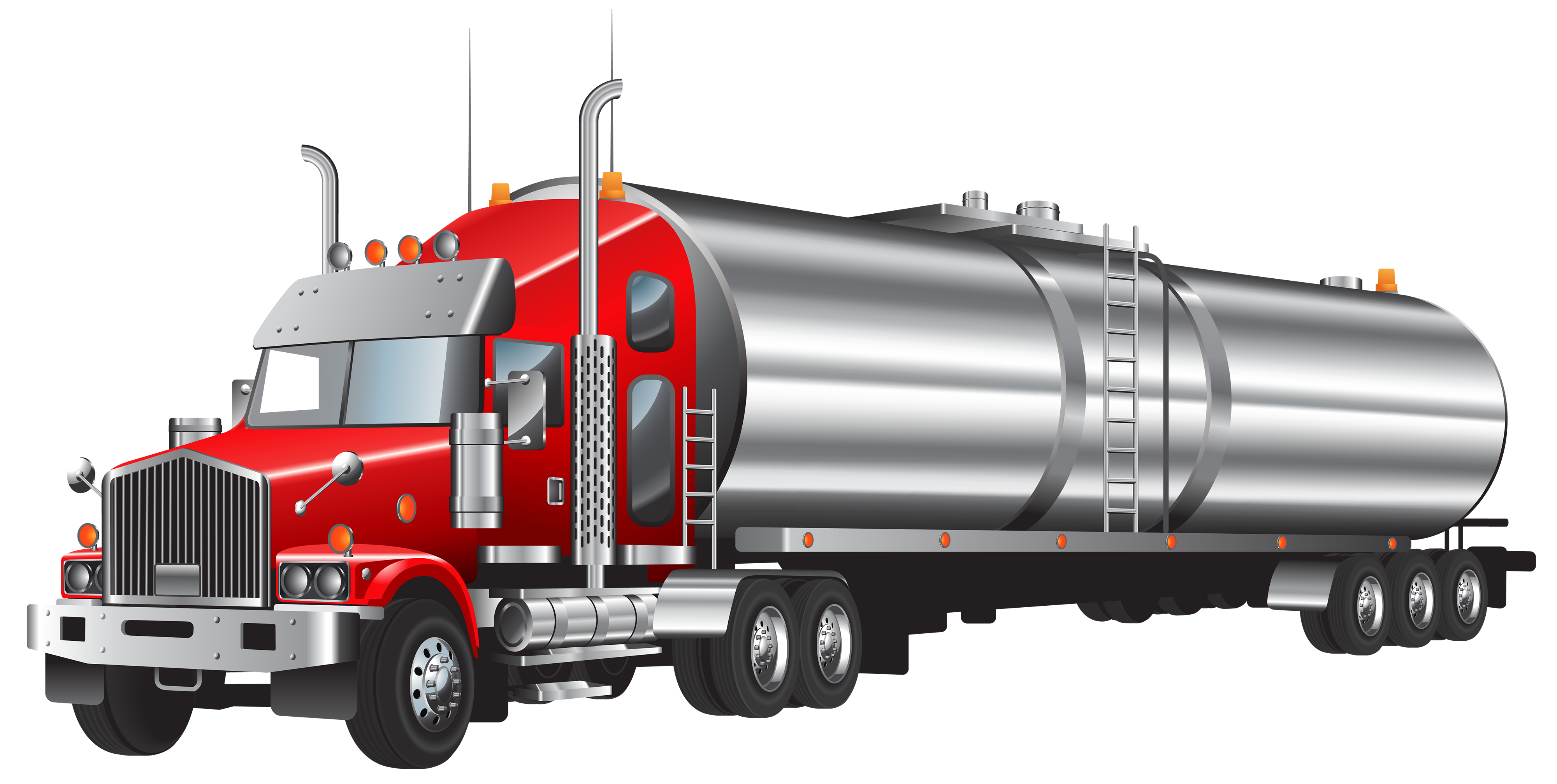 Semi clipart lory. Truck and trailer silhouette