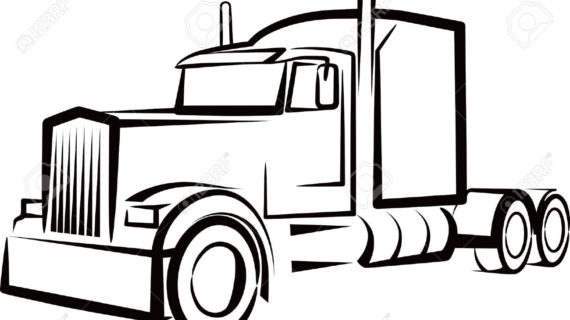 Trailer clipart big truck. And silhouette at getdrawings