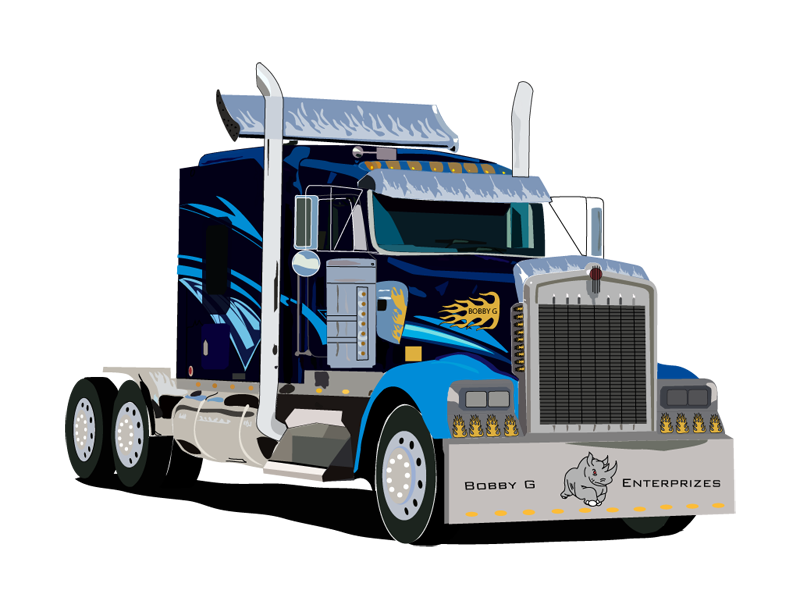 Semi drawing transport truck. Free tractor cliparts download
