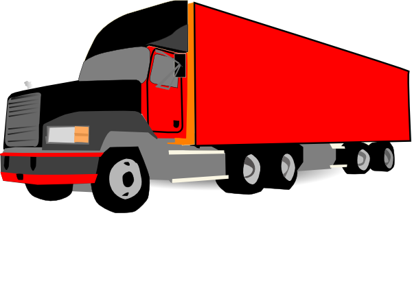 Trucking vector truck usa. Semi clipart wheeler frames