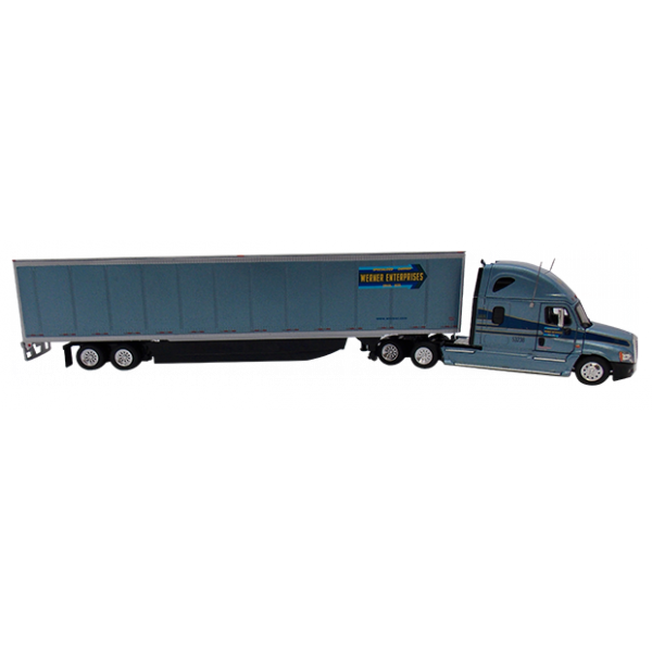 Semi drawing freightliner truck. Cascadia scale model