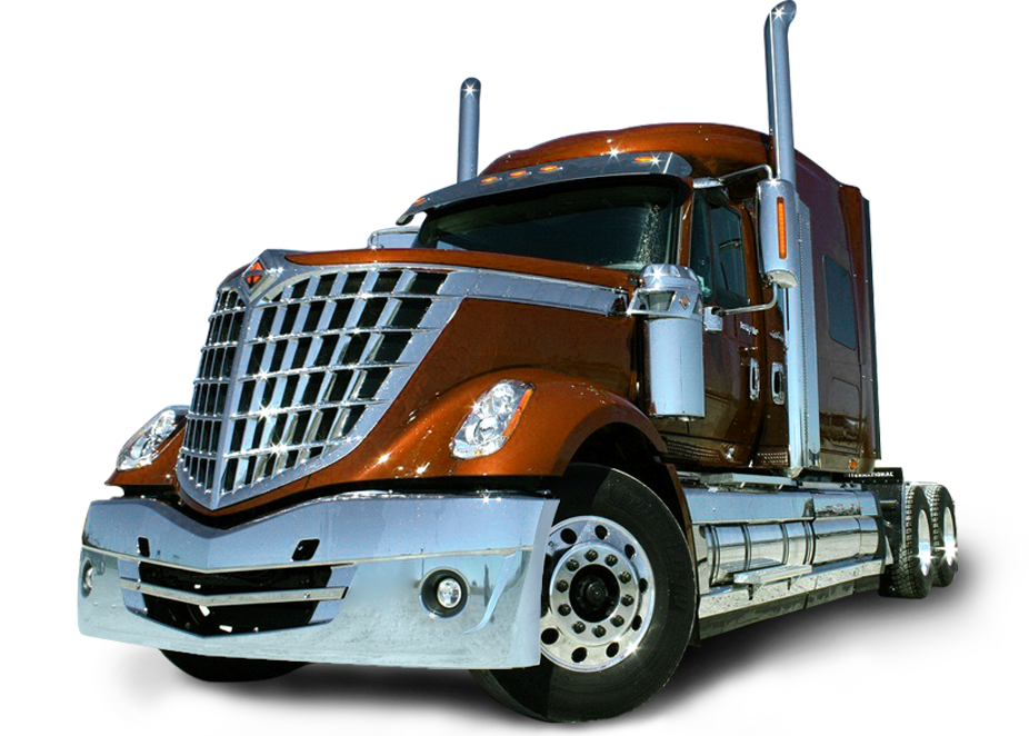 Semi drawing international truck. Accessories and products trux