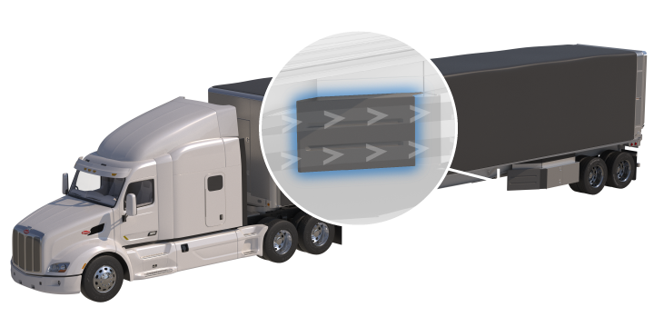 Semi drawing means transport. Aero industries tarp systems