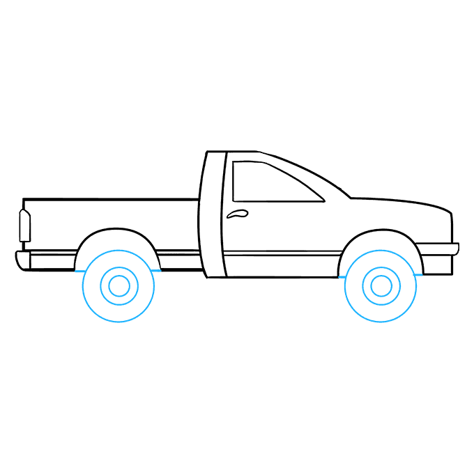 Transport drawing diesel truck. How to draw a