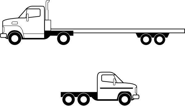Semi drawing truck cab. Svg library huge