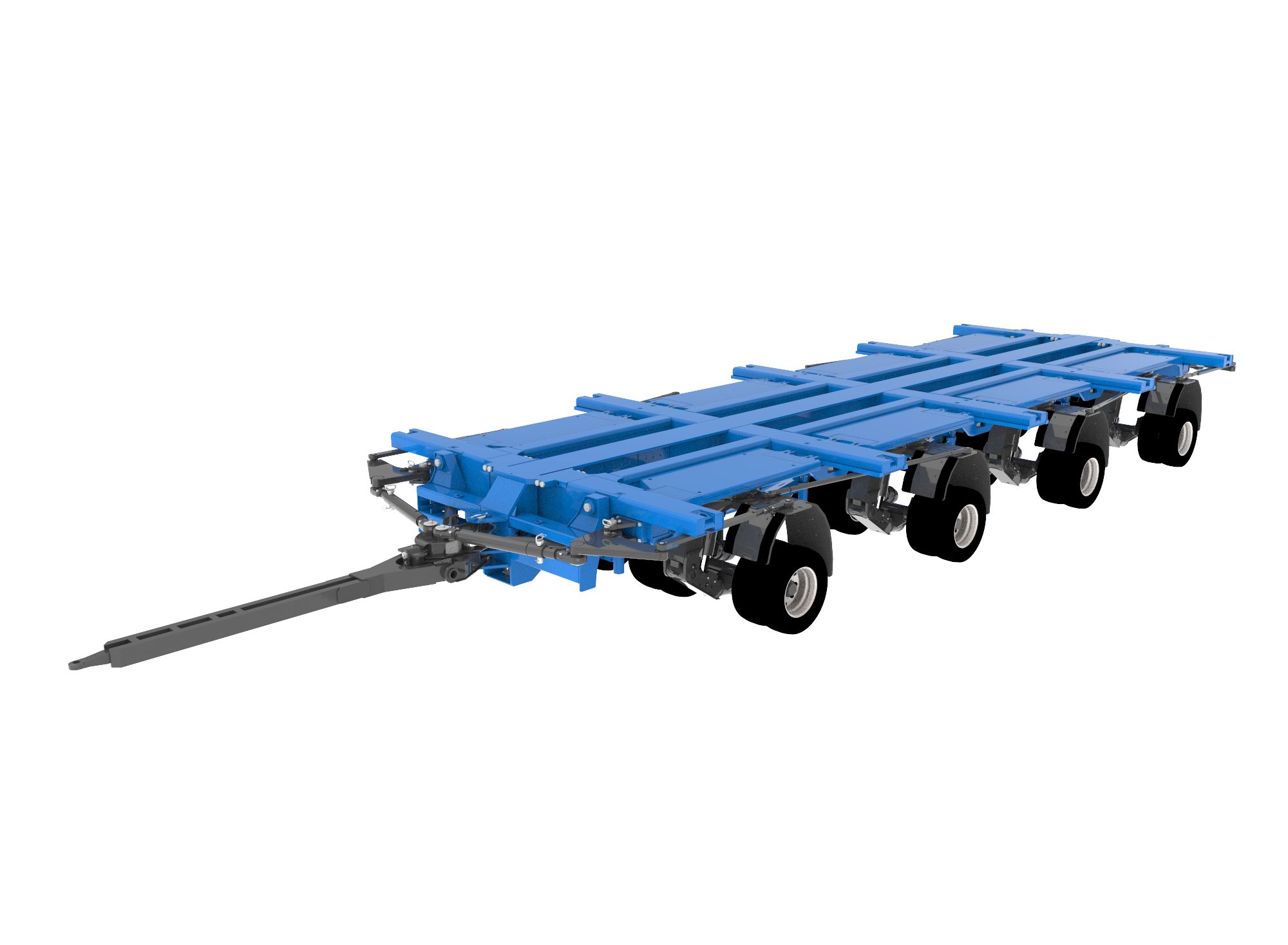 Semi drawing means transport. Goldhofer ag heavy duty