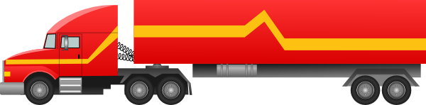 Semi clipart container truck. Svg library transparent