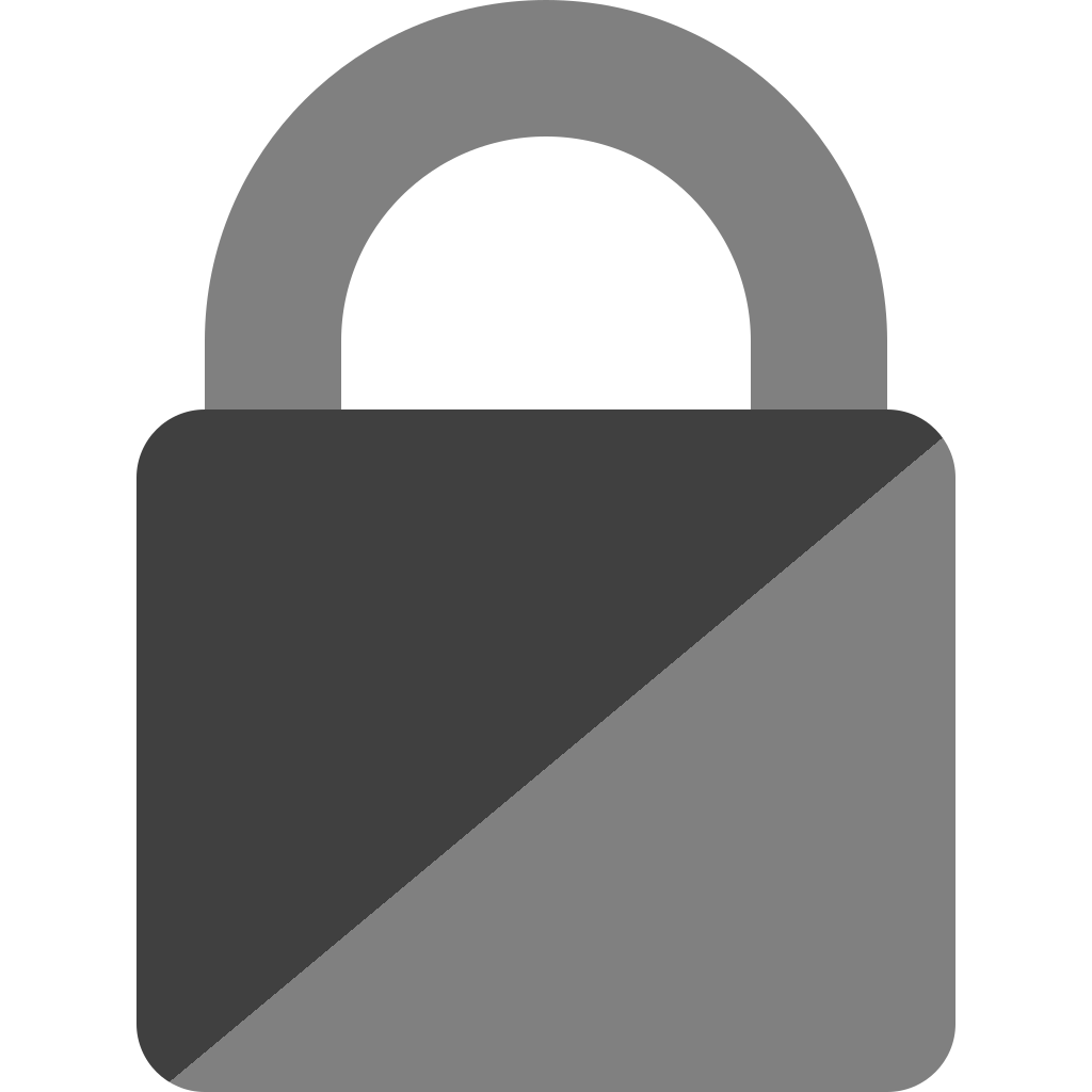 Semi svg color. File protection shackle dual