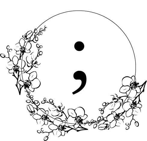 Semicolon drawing suicidal. Enblume read more