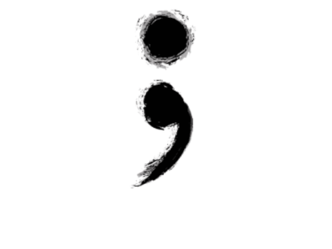 Semicolon drawing. Temporary tattoo ideas pinterest