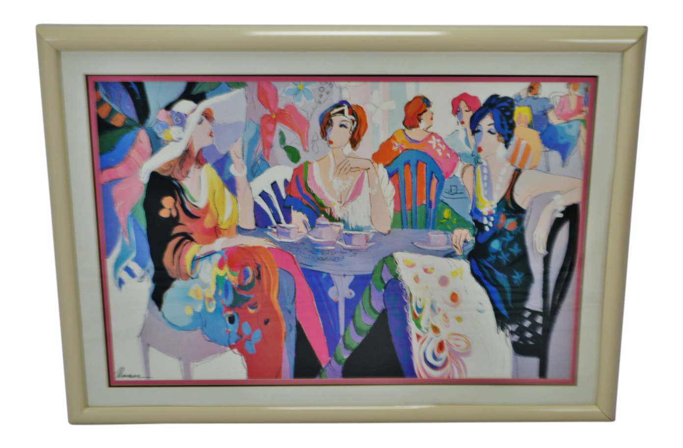 Sensual drawing framed. Vintage isaac maimon deco
