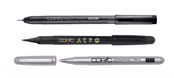 Sepia drawing copic multiliner. Products official site english