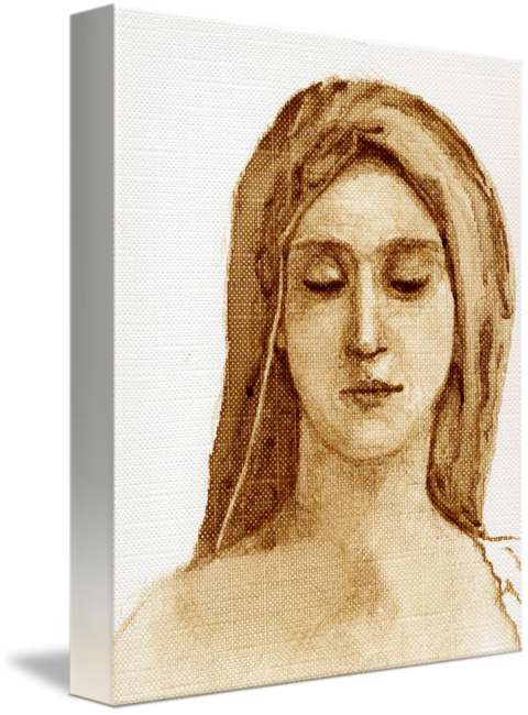 Sepia drawing face. Materdei by chanisa