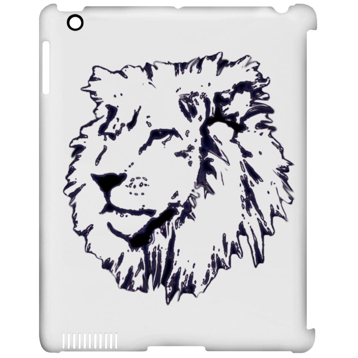 sepia drawing lion