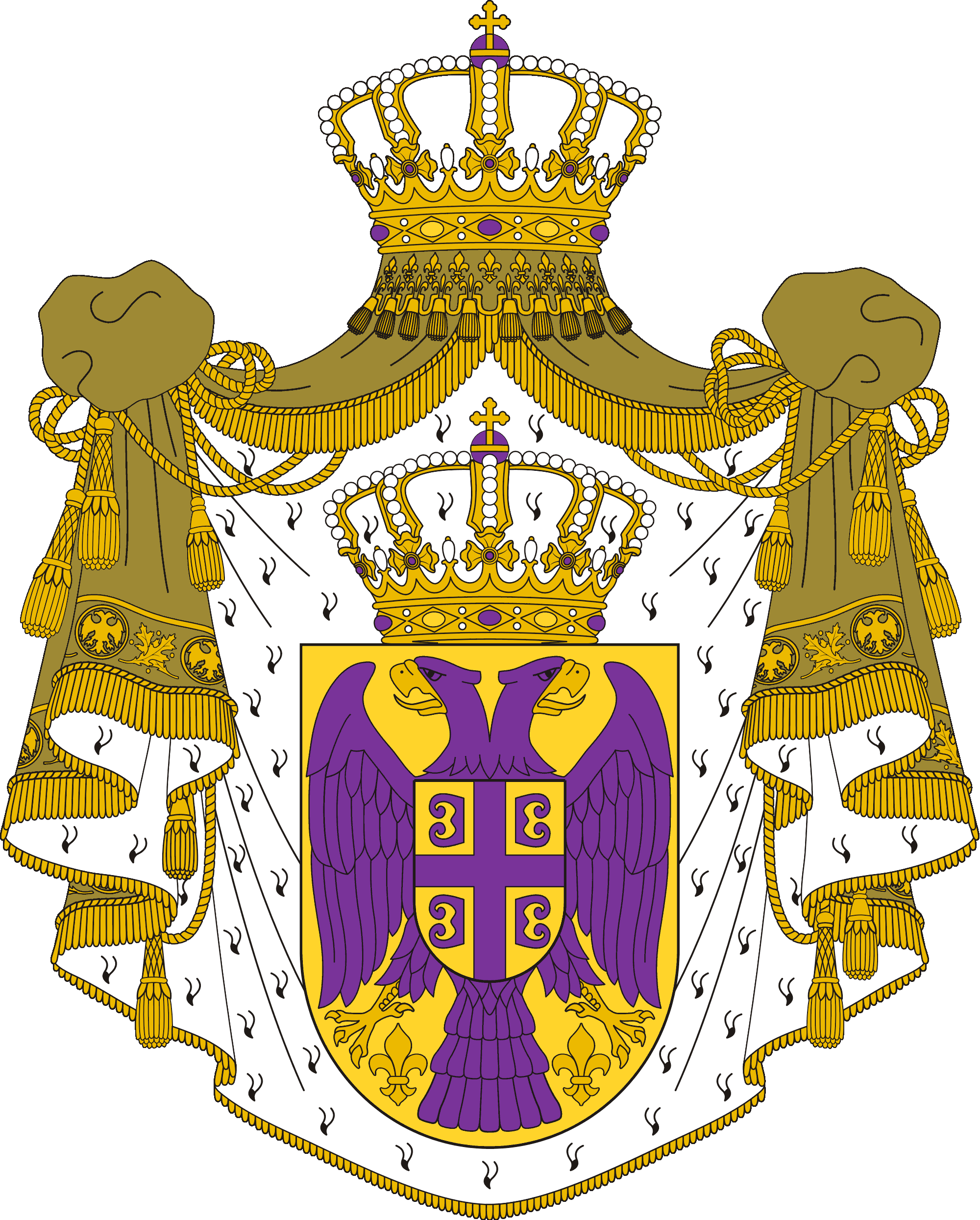 Serbian coat of arms png. Image the kingdom serbia