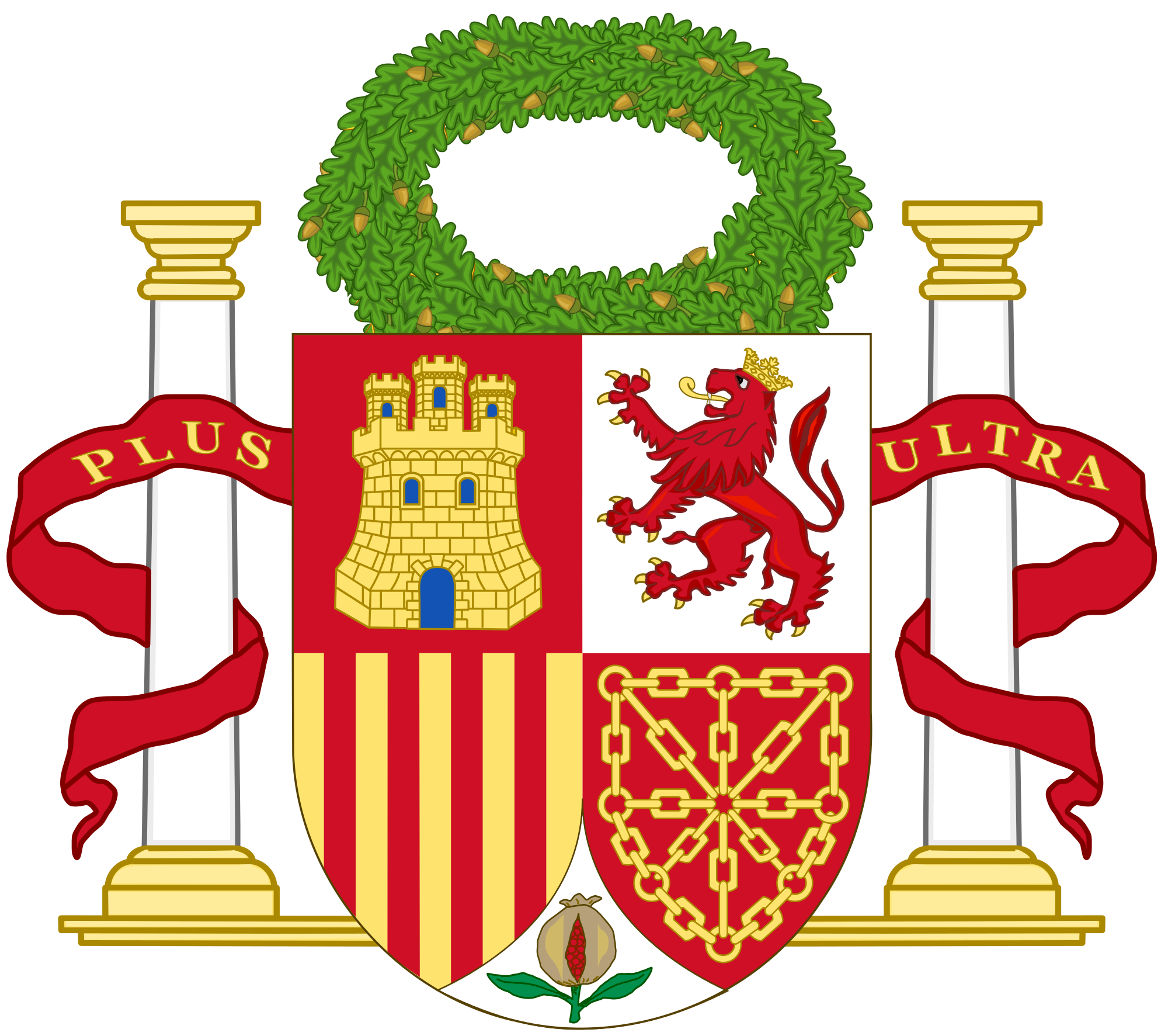 Heraldry vector civic crown. File coat of arms