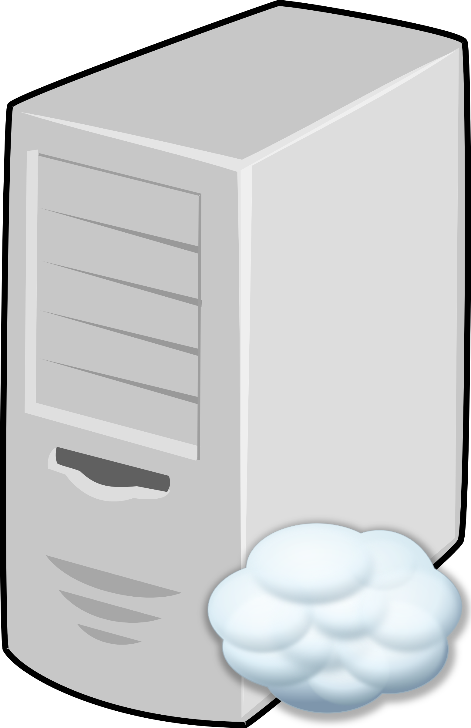Clipart cloud big image. Server icons png svg free library