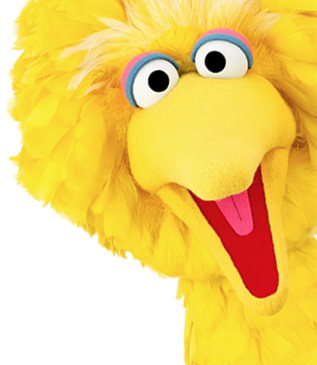 Big bird face png. Sesame street play fun