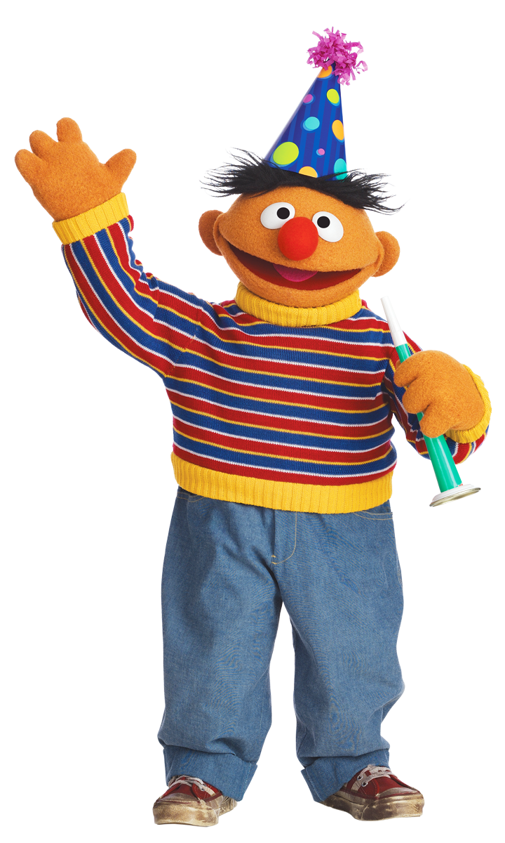 Sesame street birthday png. Ernie and i have