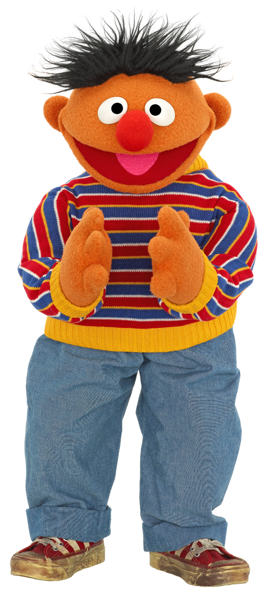 Sesame street character png. Ernie clapping pixels elijah