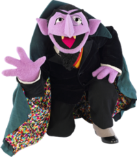 Sesame street count png. Von wikipedia character kneelingpng