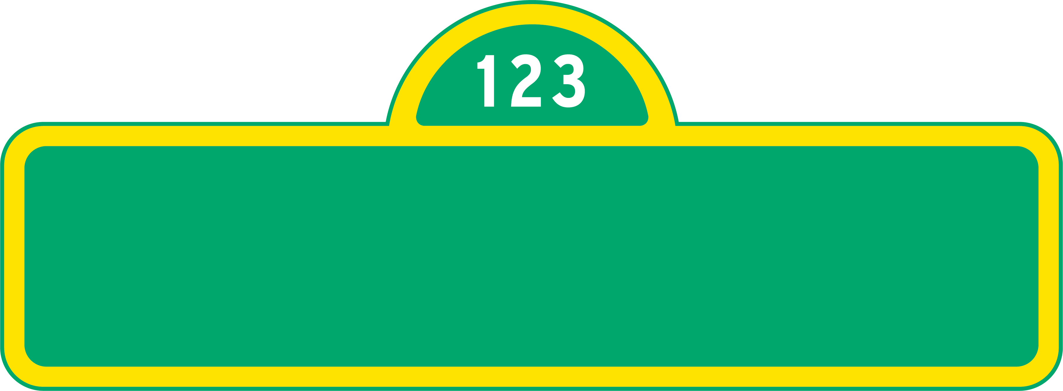 Sesame street sign png. Blank so it can