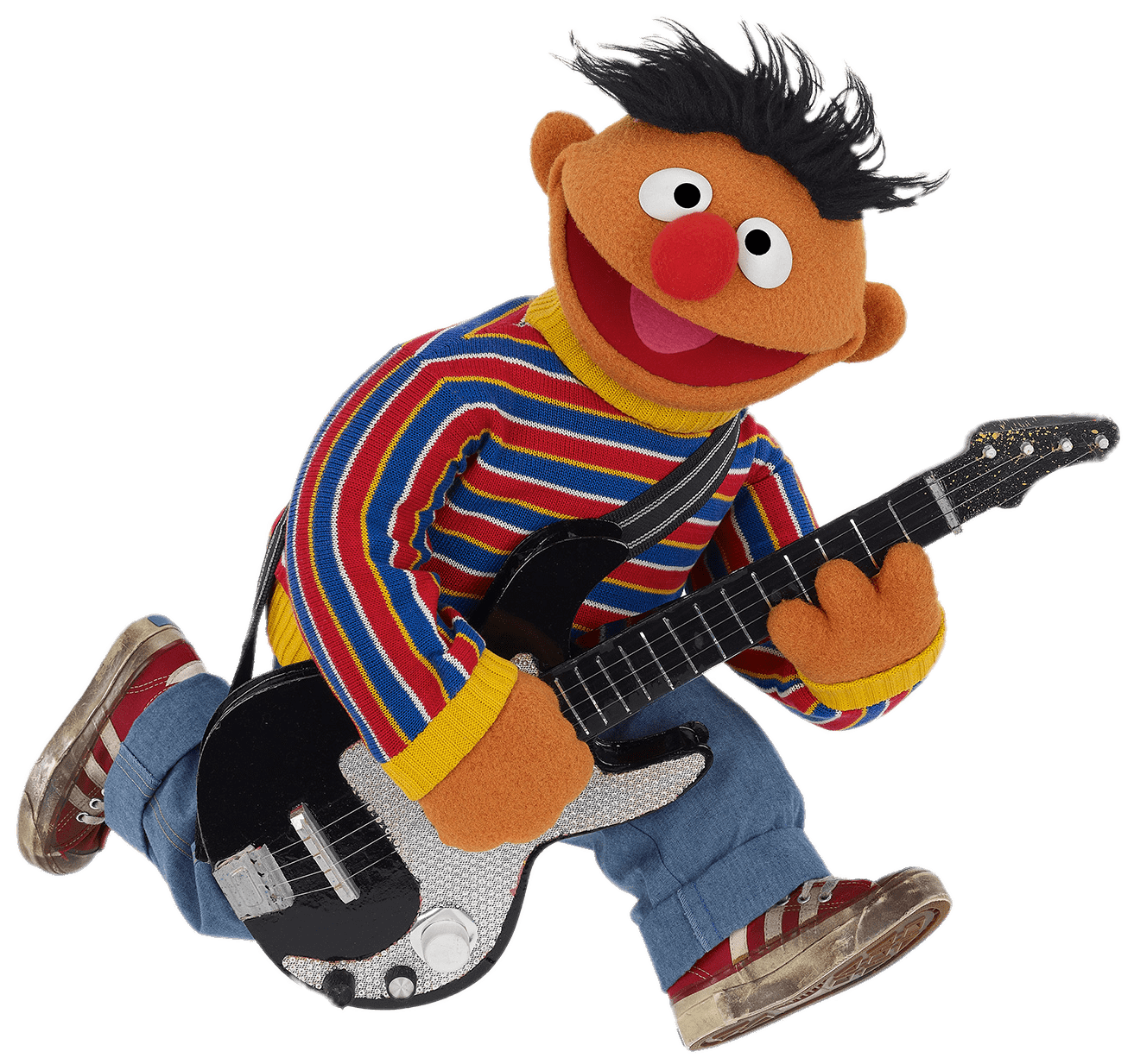 Sesame street png. Ernie with electrical guitar
