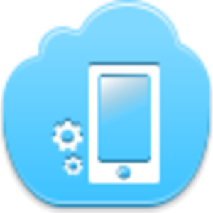 Settings vector blue. Phone icon free images
