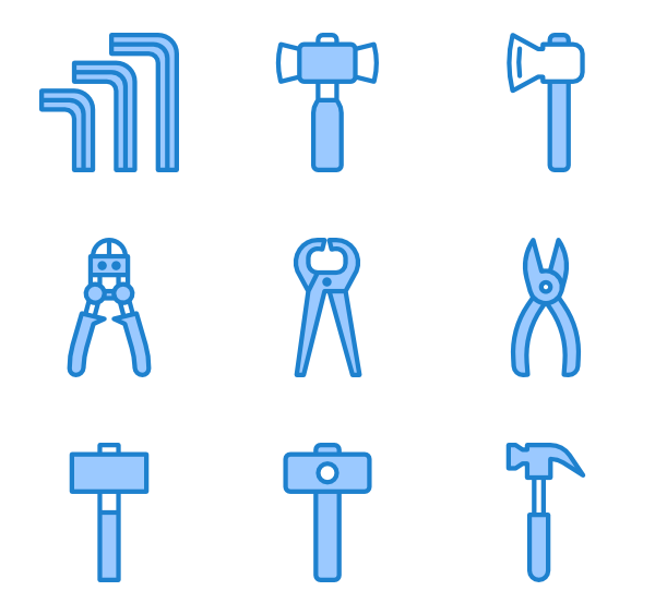 Settings vector blue. Gear icons free construction