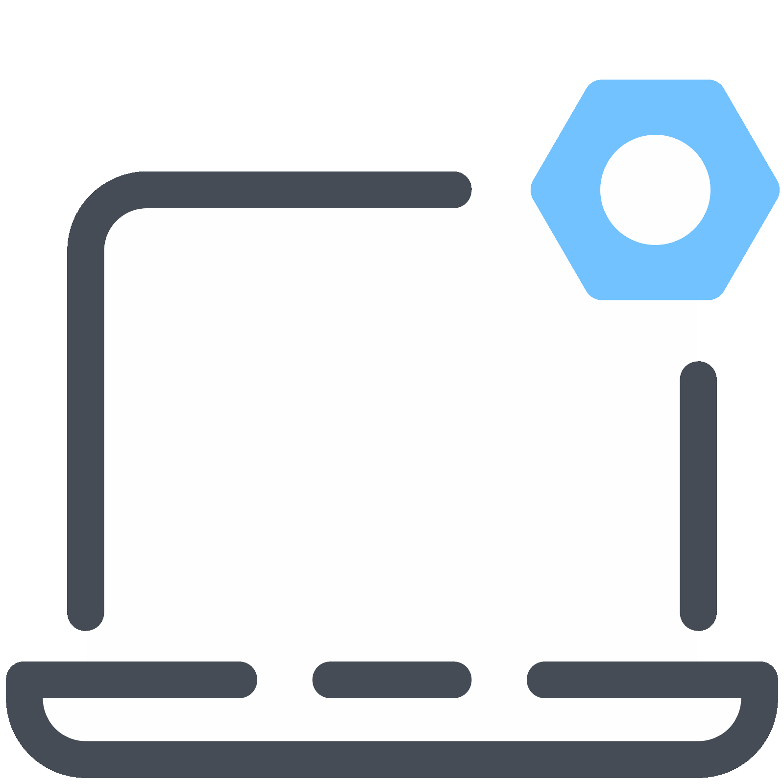 Settings vector technology. Laptop icon free download