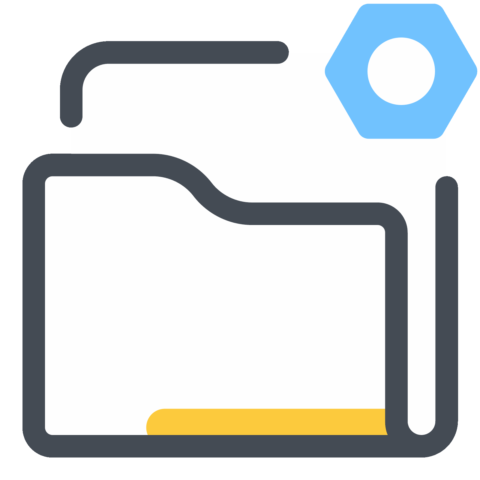 Settings vector technology. Folder icon free download