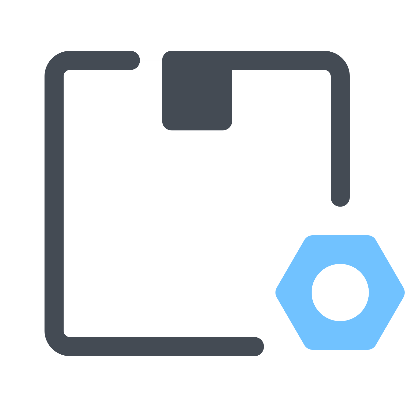 Settings vector technology. Delivery icon free download