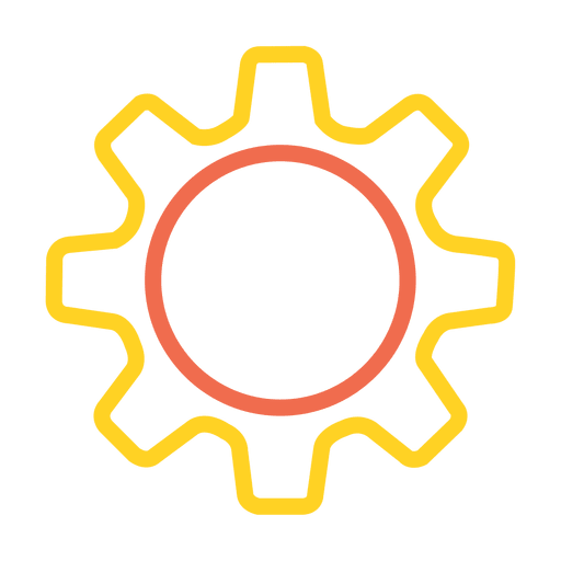 Settings vector transparent. Colorful stroke icon png