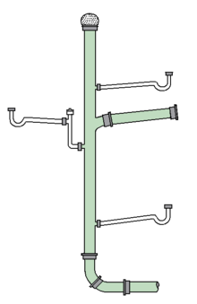 Sewer drawing modern. Drain waste vent system