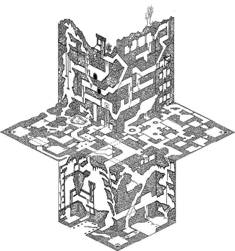 Sewer drawing one page dungeon. Random unsubstatiated hypothesis