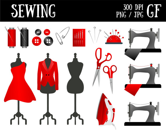 Sewing clipart button needle. Sew clip art machine