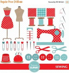 Sewing clipart craft sale. Machine clip art instant