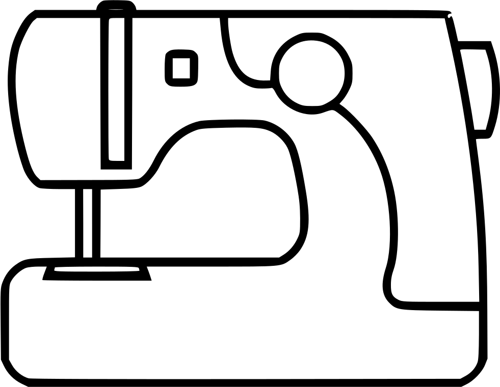 Sewing drawing. Machine svg png icon