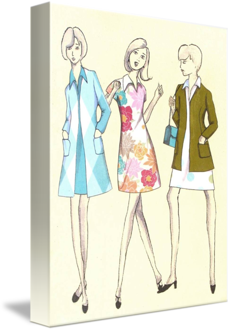 Sewing drawing design. Pattern artwork by rachael