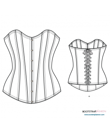 Sewing drawing design. Couture and bridal women