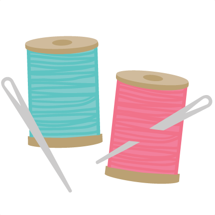 Sewing needle and thread png. Svg file for scrapbookin