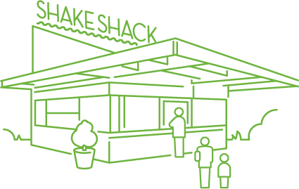 Shack drawing. Shake line by big